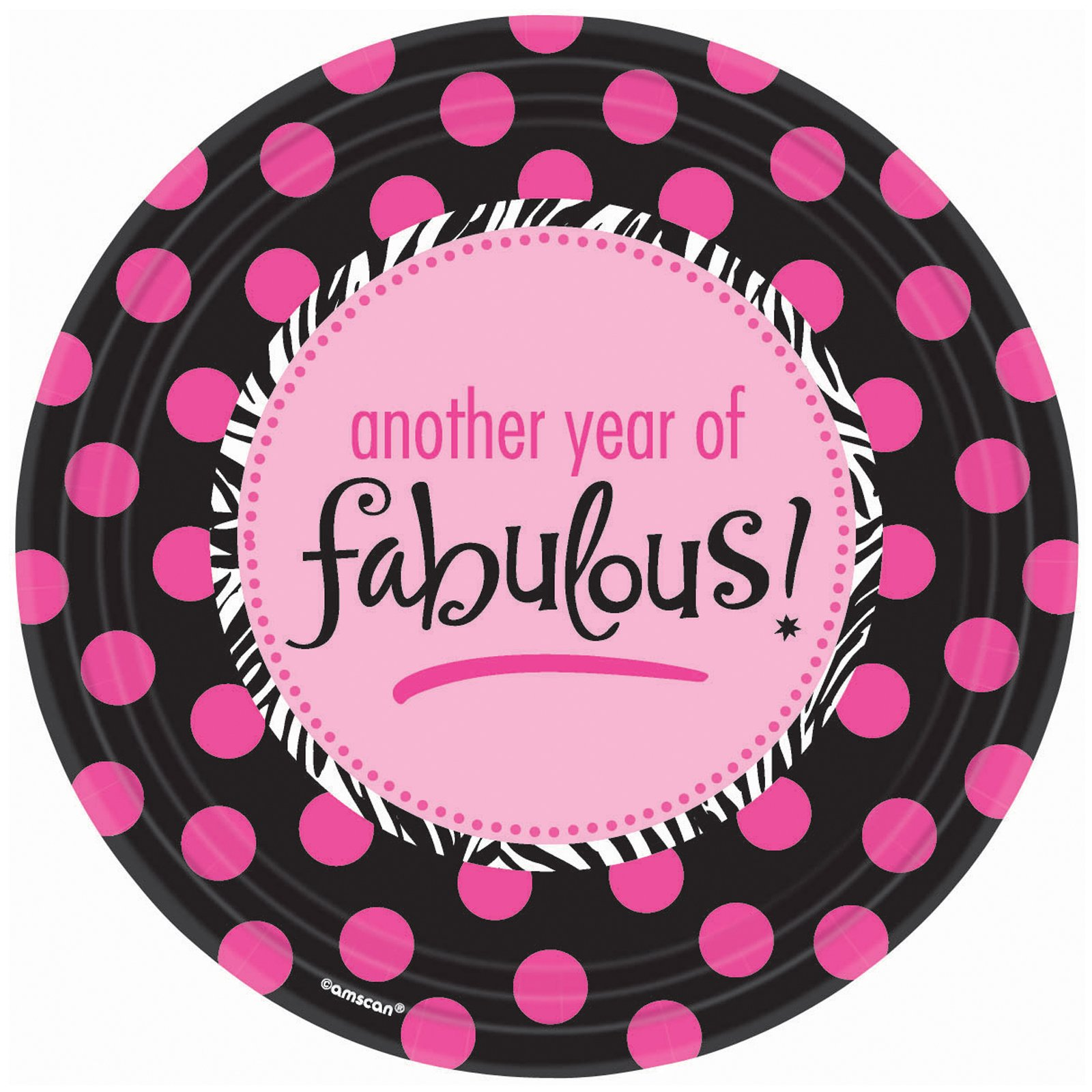 Another Year of Fabulous Dinner Plates (8 count)