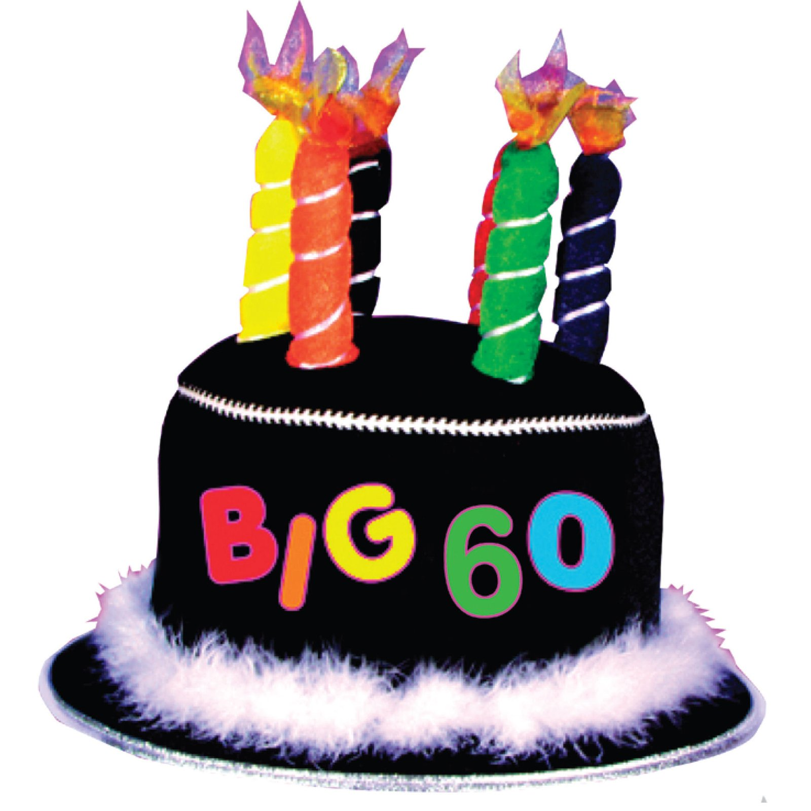 Over The Hill 60th Birthday Candle Hat