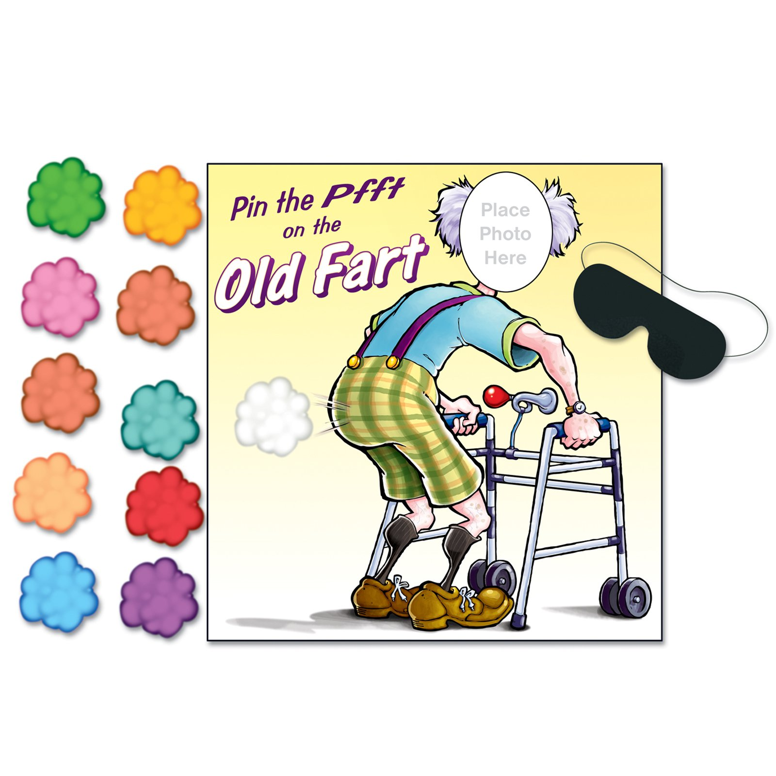 "Old Fart Game ""Pin the PFFT"""