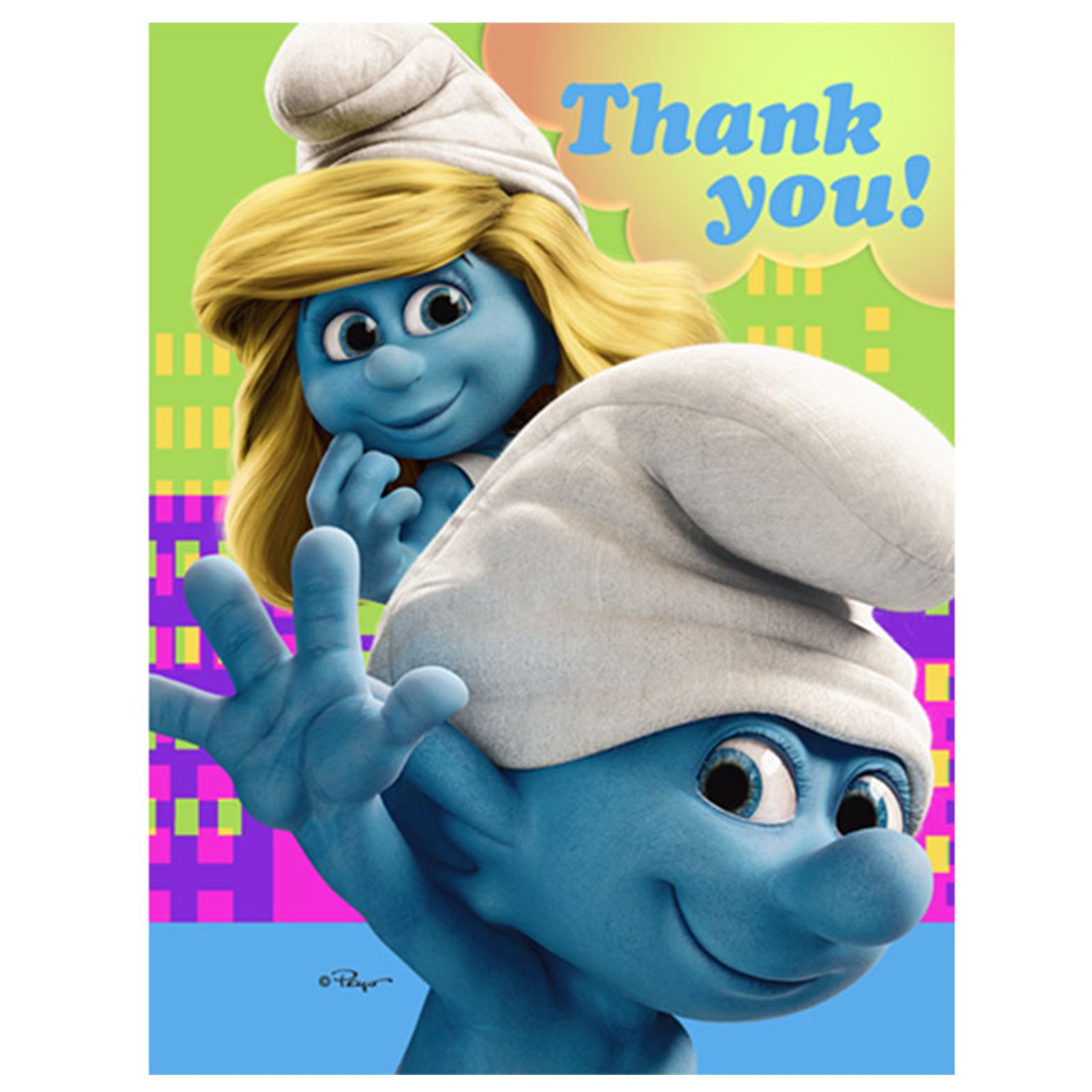 Smurfs Thank You Cards (8 count)