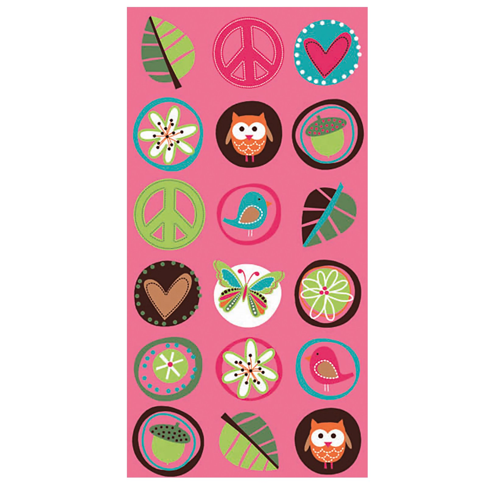 Hippie Chick Paper Treat Bags (8 count)