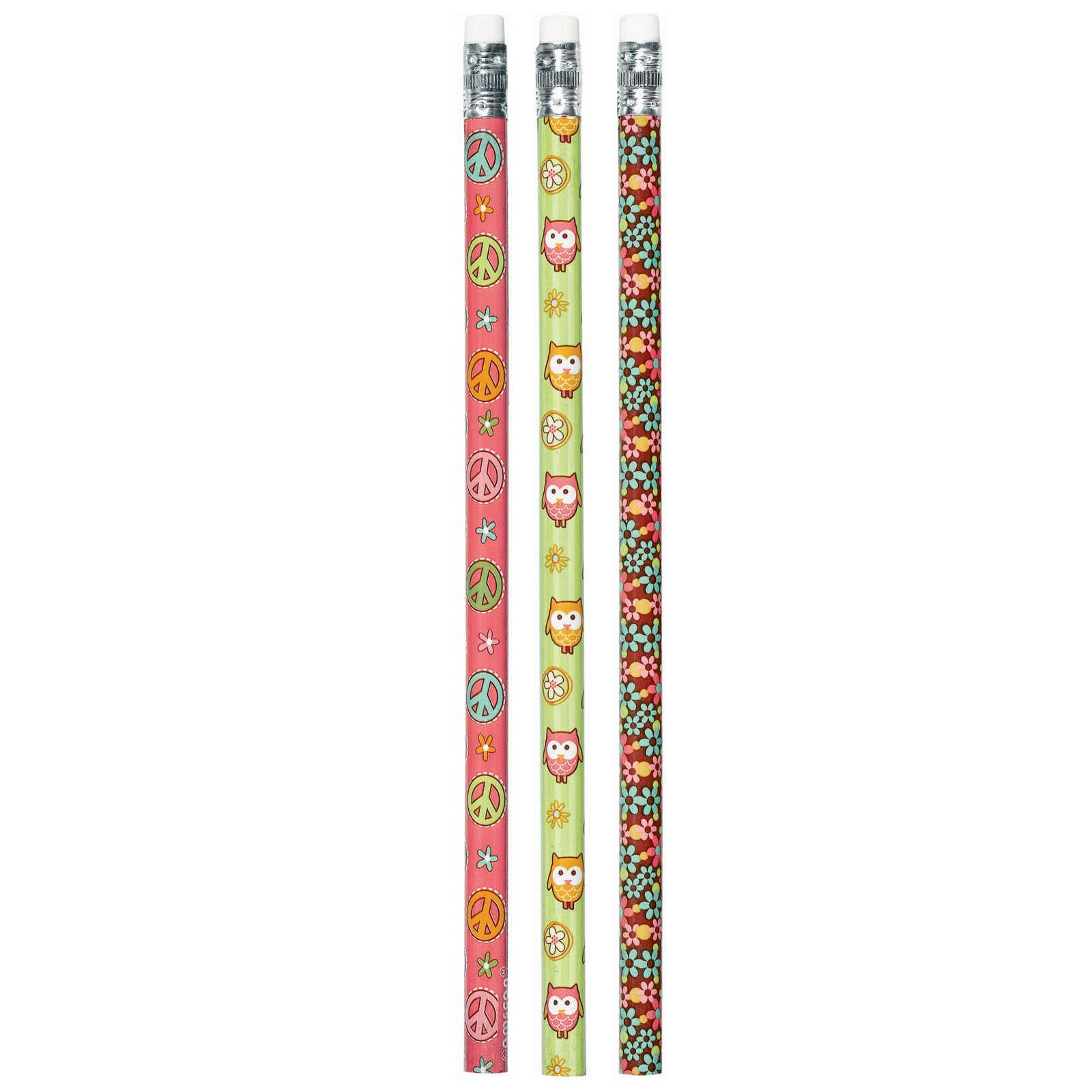 Hippie Chick Pencils Assorted (12 count)