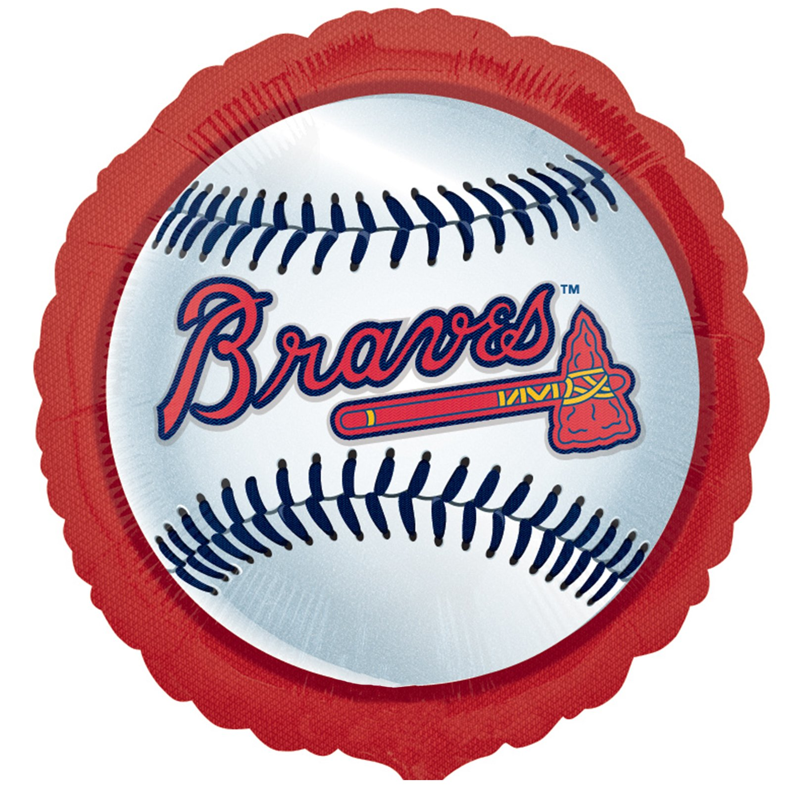 Atlanta Braves Baseball Foil Balloon