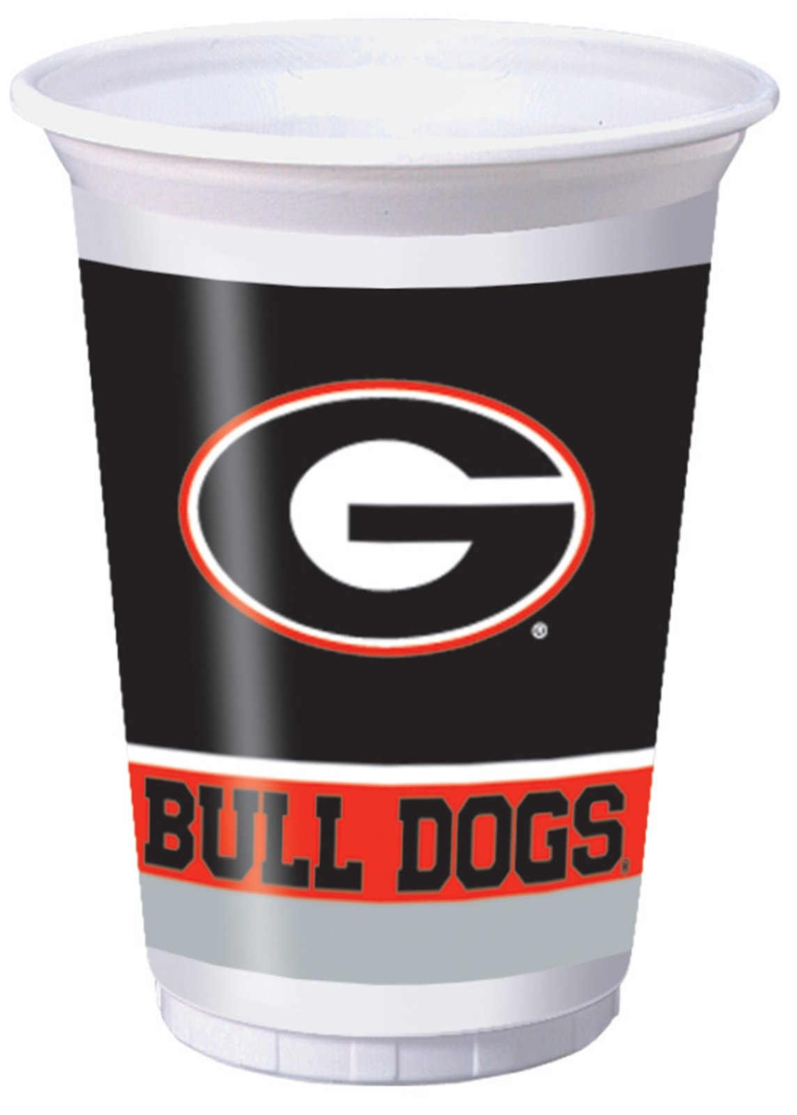 Georgia Bulldogs - 20 oz. Plastic Cups (8 count)