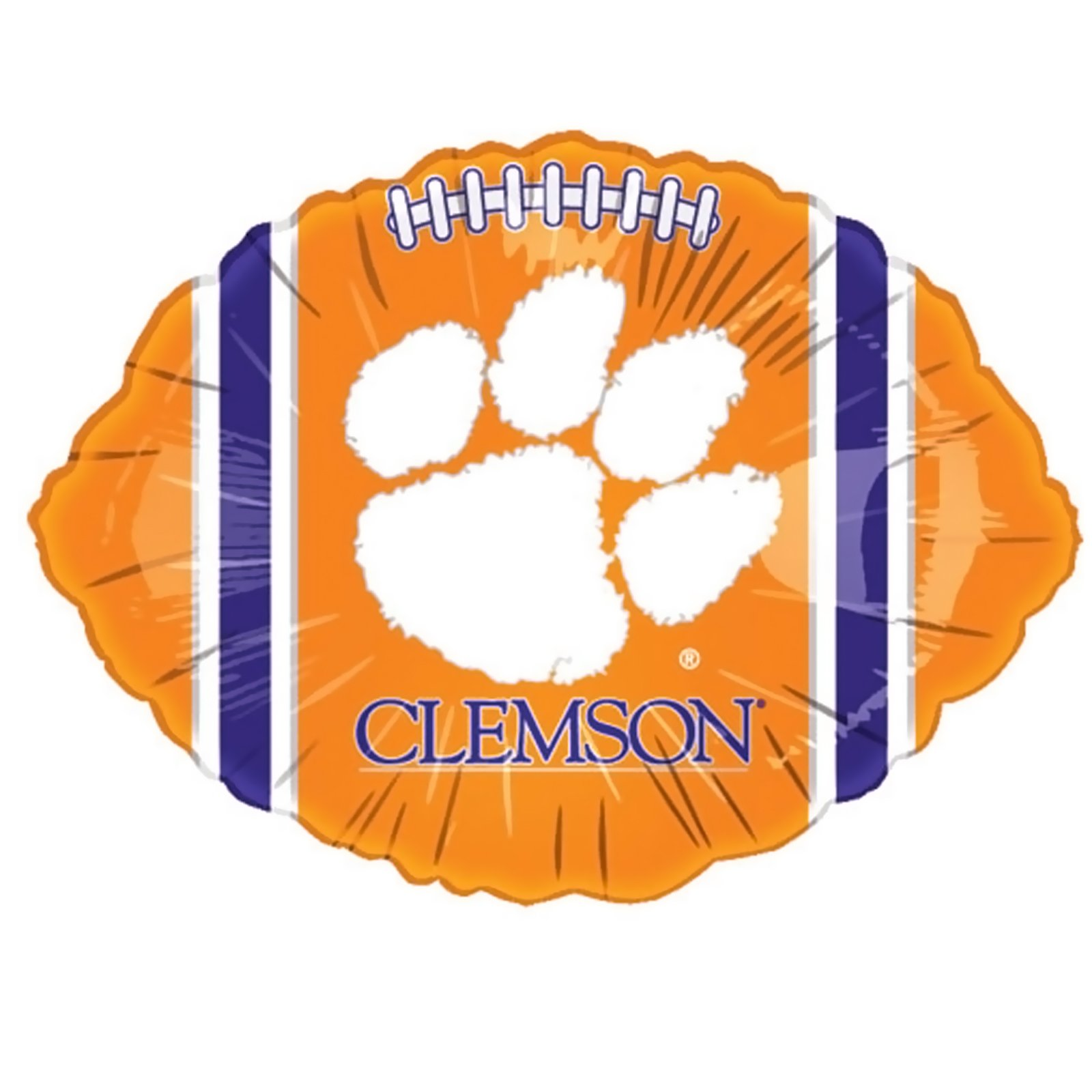 "Clemson Tigers - 18"" Foil Football Balloon"