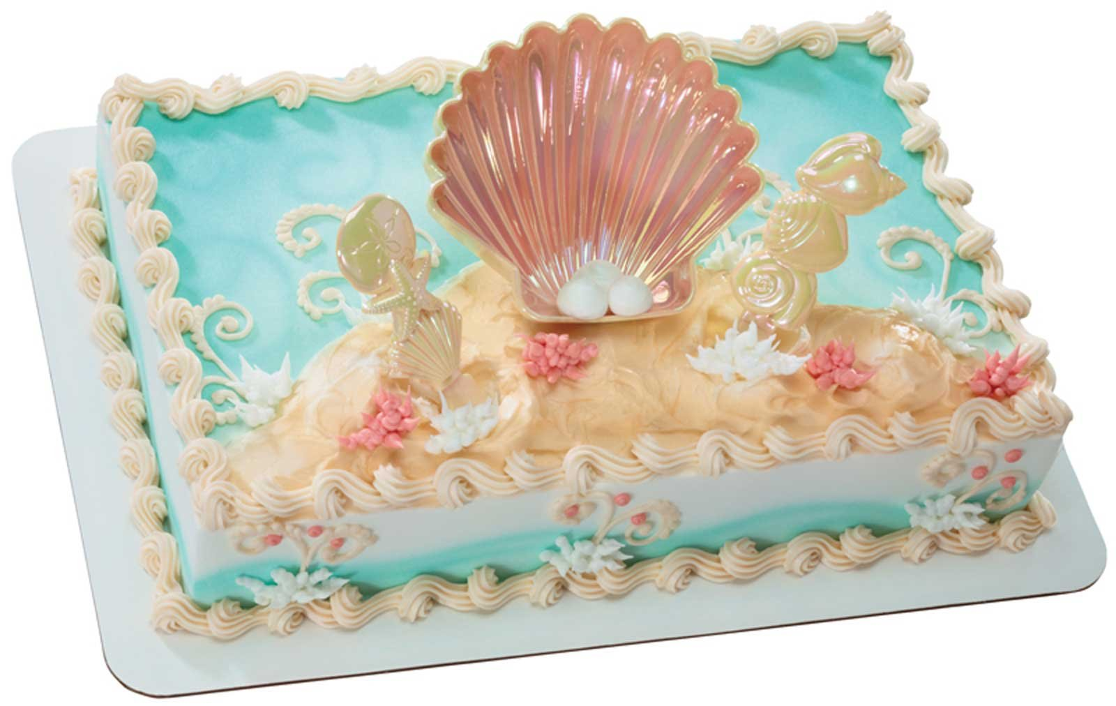 Luau Sea Shell Cake Topper
