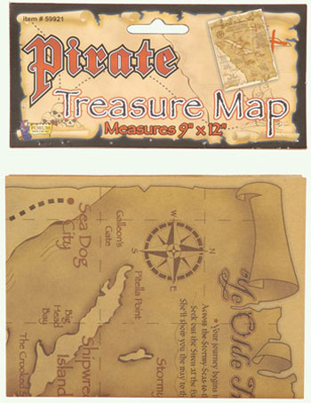 Treasure Map Accessory - Click Image to Close