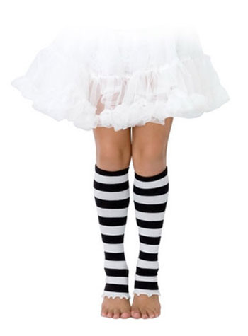Kids Black and White Leg Warmers
