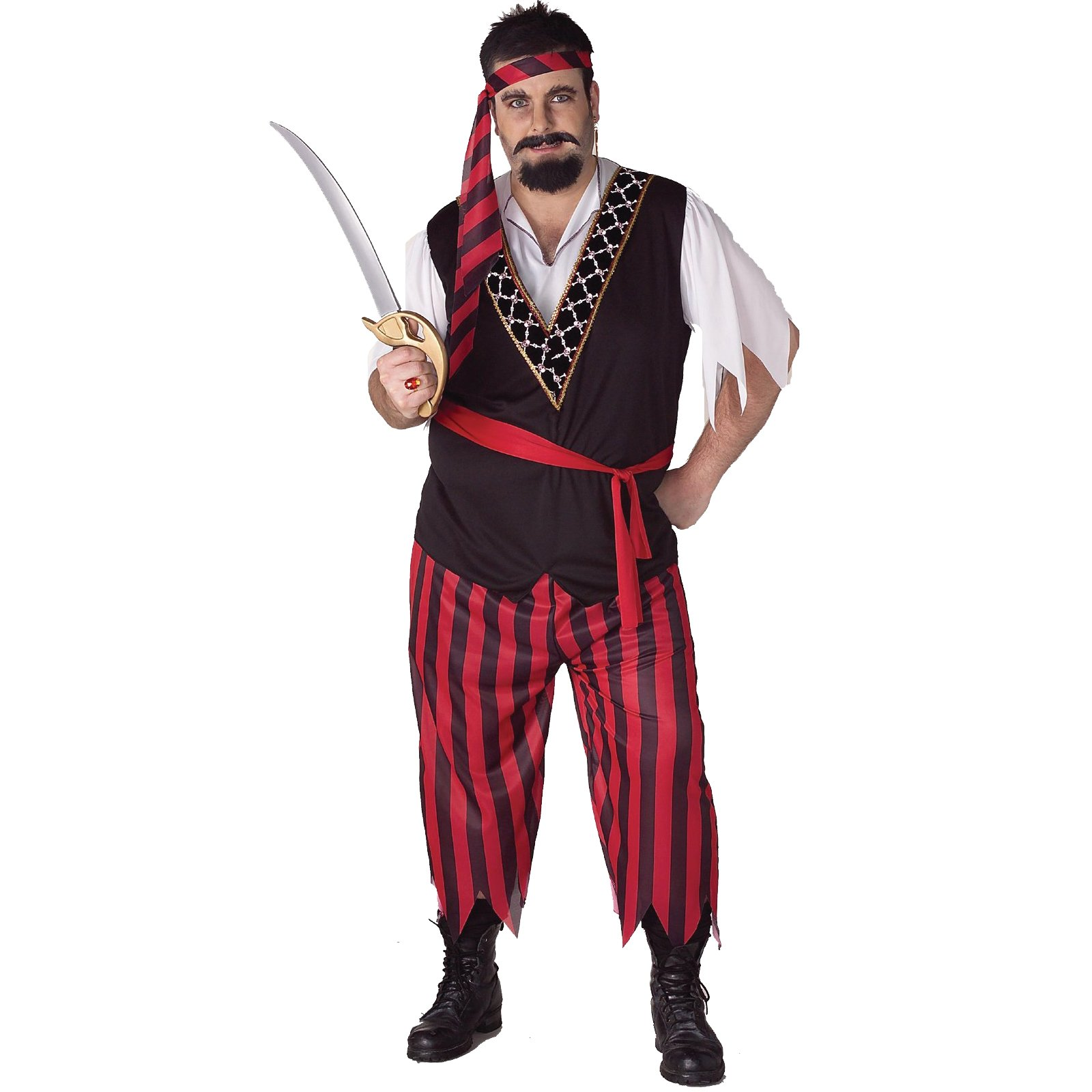 Pirate Adult Plus Costume