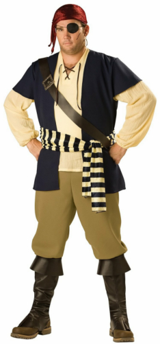 Pirate Rogue Adult Plus Costume