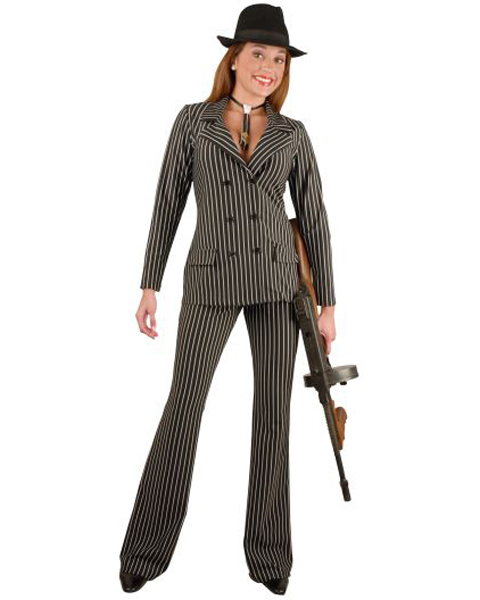 Plus Size Mob Woman Costume for Adult
