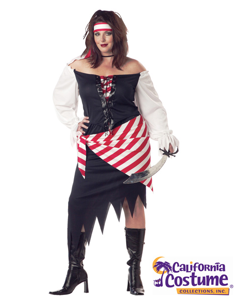 Plus Size Ruby, The Pirate Beauty Costume for Adut