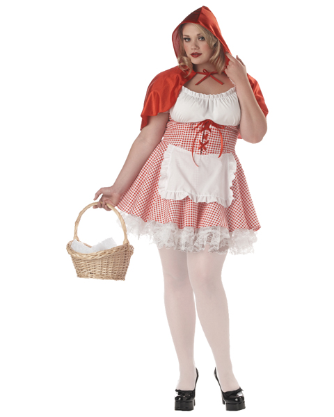 Plus Size Miss Red Riding Hood Costume