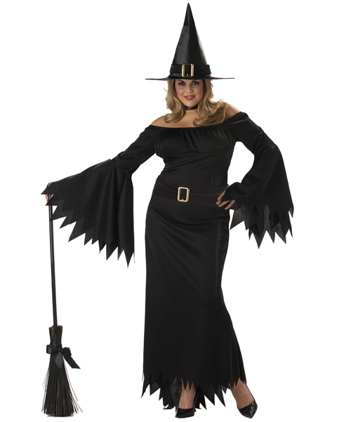Womens Plus Size Elegant Witch Costume