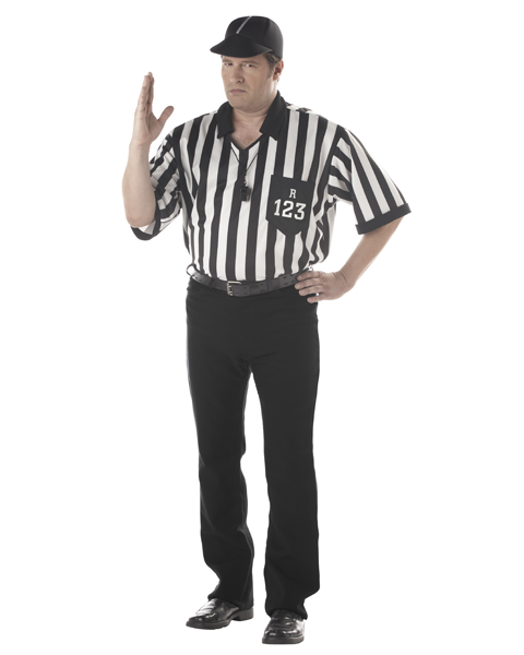Referee Set Adult Plus Costume