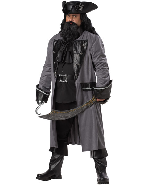 Plus Size Blackbeard Mens Costume