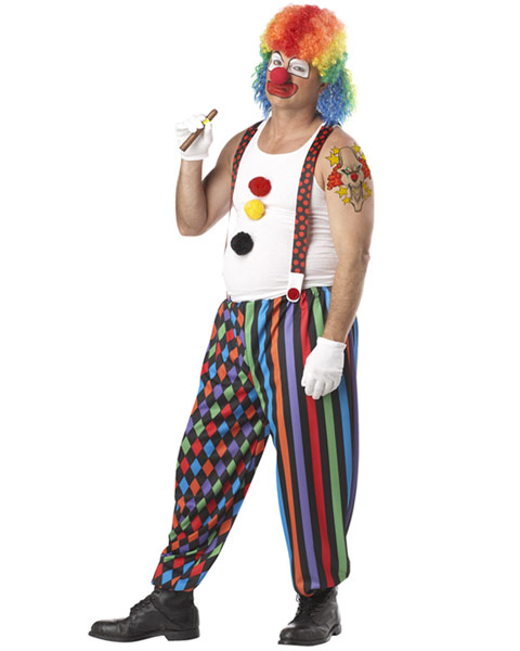 Plus Size Cranky The Clown Mens Costume