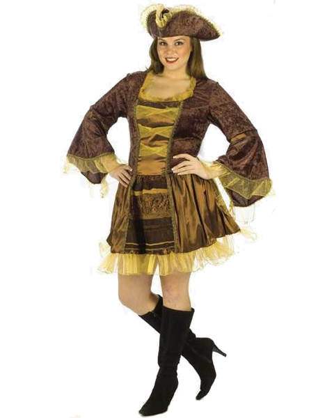 Plus Size Sassy Victorian Pirate Costume