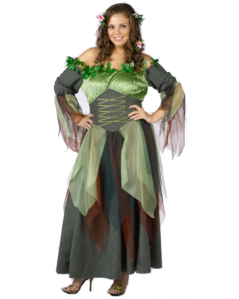 Womens Plus Size Mother Nature Costume