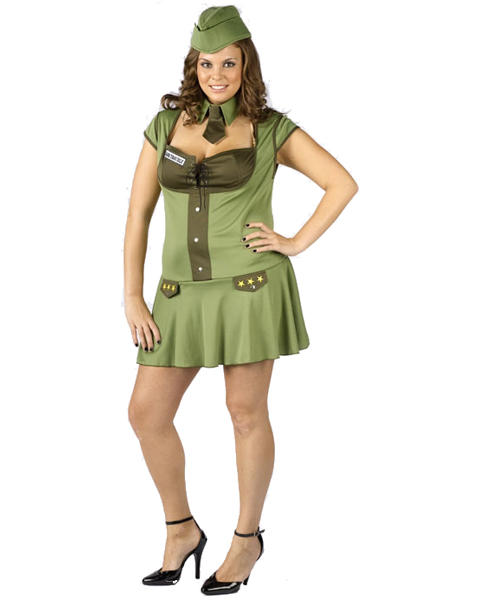 Womens Plus Size Major Trouble Costume