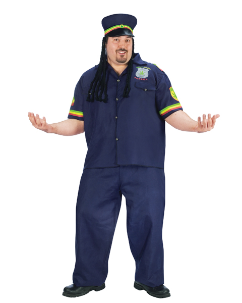 Plus Size Way High Patrolman Costume