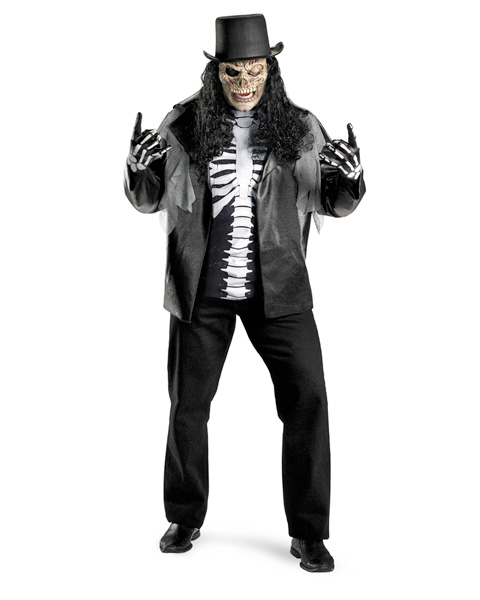 Mens Plus Size Cryptic Rocker Costume