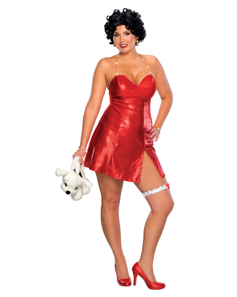 Plus Size Betty Boop Short Dress Costume