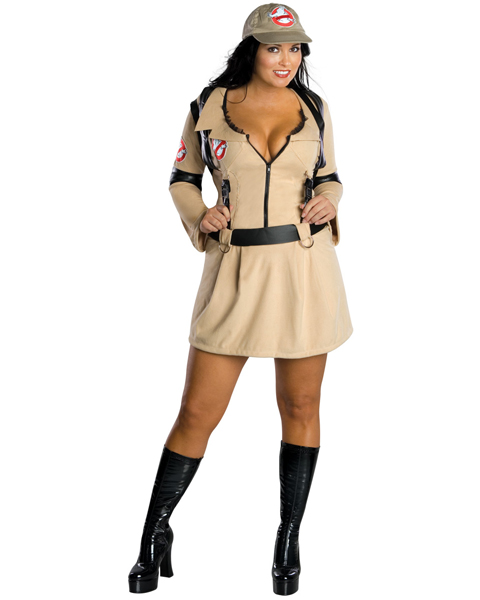 Womens Plus Size Sexy Ghostbusters Costume