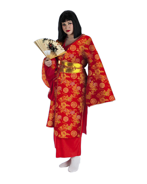 Japanese Geisha Plus Size Costume for Women