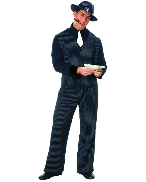 Mens Plus Gangster Man Costume