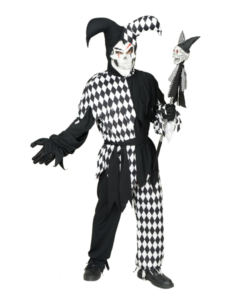 Plus Size Wicked Jester Costume For Adult