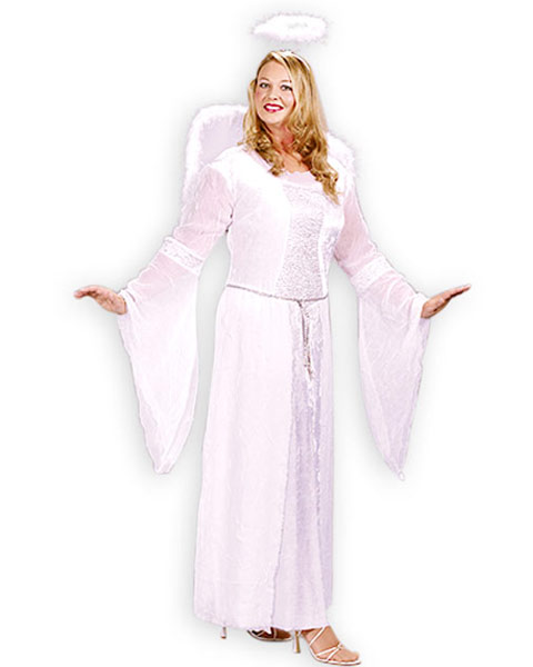 Womens Plus Size Heavenly Angel Costume