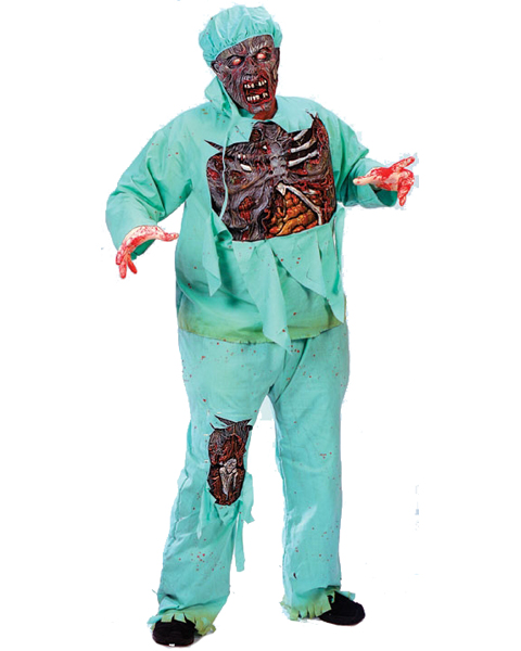 Mens Plus Size Zombie Doctor Costume