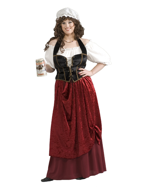 Adult Tavern Wench Plus Costume