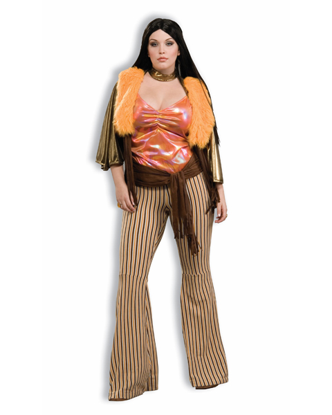 Womans Plus Size 60s Babe Costume