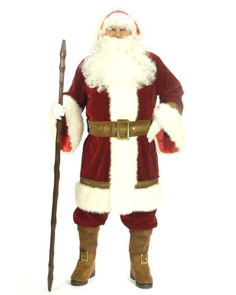 Extra Large Adult Deluxe Old Time Santa Suit