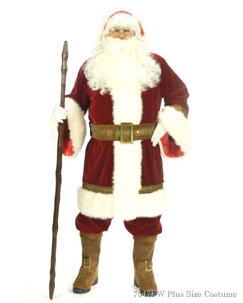 Xxl Adult Deluxe Old Time Santa