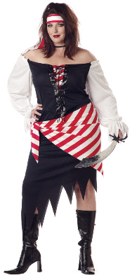 Ruby The Pirate Beauty Plus Size Adult Costume