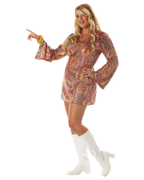 Womens Disco Dolly Plus Costume