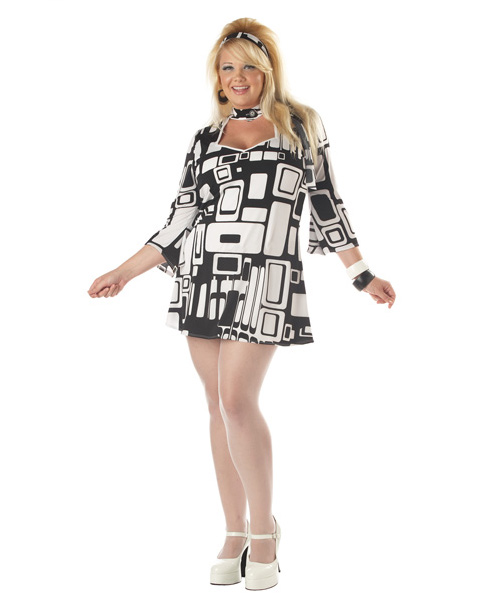 Plus Size Groovy Chick Adult Costume