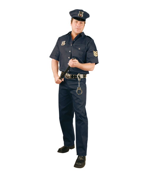Mens Size Plus Police Costume