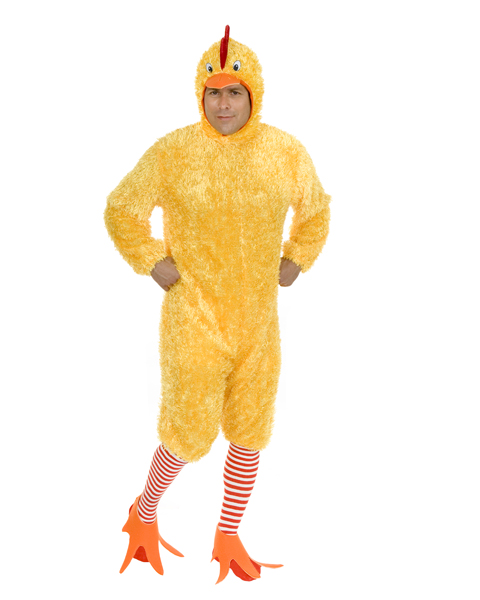 Mens Plus Size Funky Chicken Costume