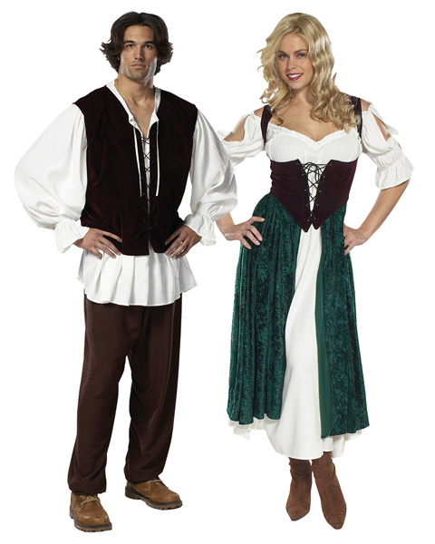 Adult Size The Village Wench, Esmeralda Couple Cotume