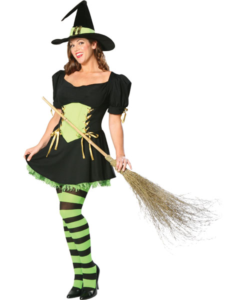 Plus Size The Emerald Witch Costume