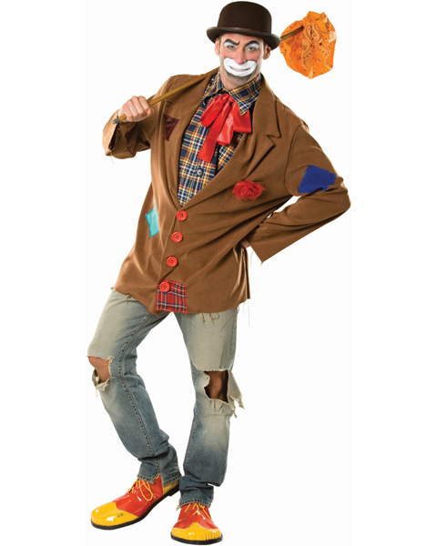 Mens Plus Size Harry The Hobo Clown Costume
