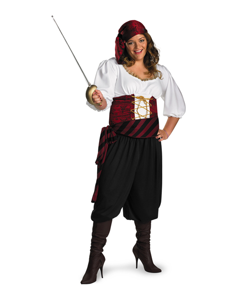 Womans Plus Size First Mate Pirate Costume