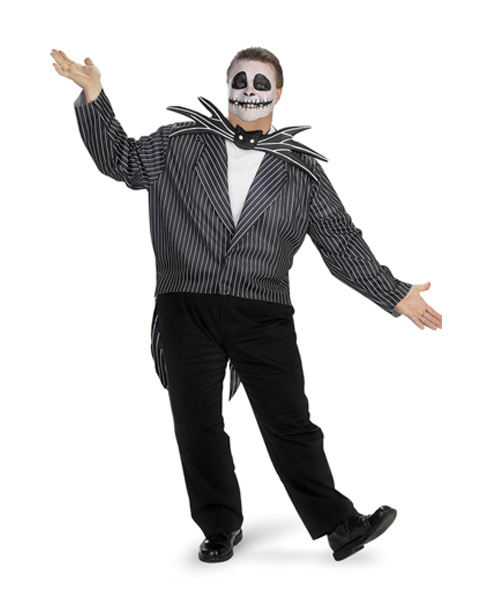 Adult Nightmare Before Christmas Jack Skellington Plus Costume