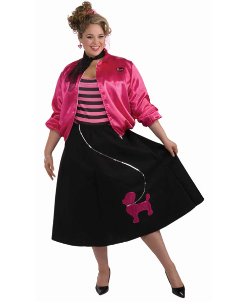 50s Poodle Skirt Plus Size Set Costume