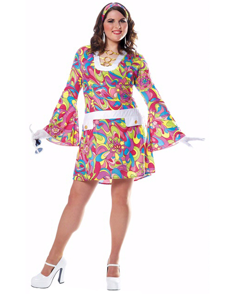 Plus Size Groovy Chic Costume For Adult