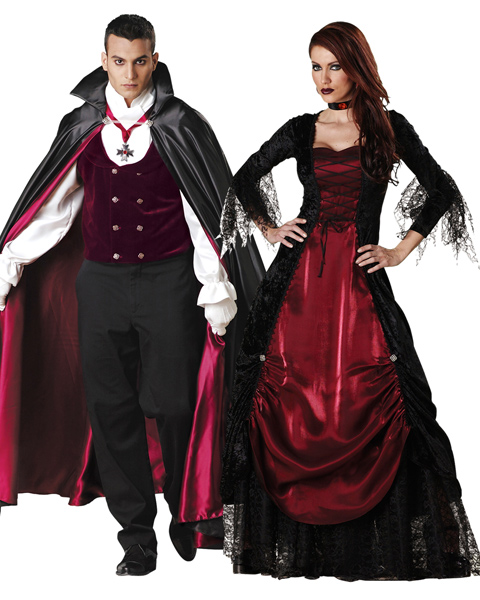 Elite Adult Gothic Vampira Couple Costume